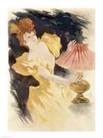 Saxoleine (Advertisement for lamp oil), France 1890's Fine-Art Print