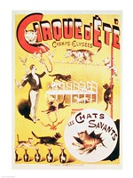 Poster advertising the Cirque d'Ete in the Champs Elysees Fine-Art Print