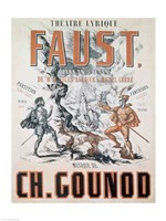 Poster advertising 'Faust', Opera Fine-Art Print