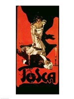 Poster advertising a performance of Tosca, 1899 Fine-Art Print