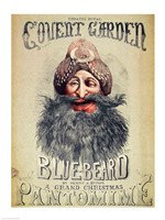 Poster for a Christmas pantomime of 'Blue Beard' Fine-Art Print