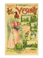 Poster for the Chemins de Fer de l'Ouest to Le Vesinet Fine-Art Print