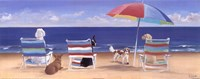 Beach Chair Tails I Fine-Art Print