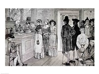 Women at the Polls in New Jersey Fine-Art Print