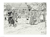 The Arrival of the Young Women at Jamestown Fine-Art Print