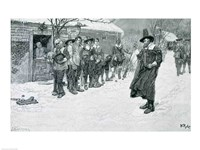 The Puritan Governor Interrupting the Christmas Sports Fine-Art Print