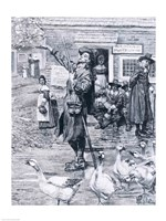 A Quaker Exhorter in New England, illustration from 'The Second Generation of Englishmen in America' Fine-Art Print