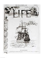 The Mayflower, front cover from 'Life' magazine, 11th October, 1883 Fine-Art Print