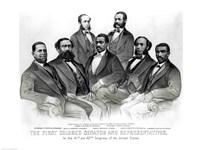 The First Colored Senator and Representatives Fine-Art Print