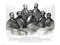 The First Colored Senator and Representatives Fine-Art Print