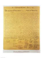 Declaration of Independence of the 13 United States of America of 1776 Fine-Art Print