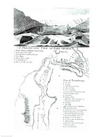 A Perspective View of Lake George and a Plan of Ticonderoga Fine-Art Print