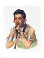 Young Ma-Has-Ka, Chief of the Iowas Fine-Art Print