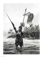 Balboa Claiming Dominion over the South Sea Fine-Art Print