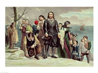 The Landing of the Pilgrims at Plymouth, Massachusetts, December 22nd 1620 Fine-Art Print