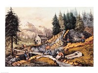 Gold Mining in California Fine-Art Print
