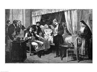 Performing the Operation of the Transfusion of Blood at the Hospital of Pity Fine-Art Print