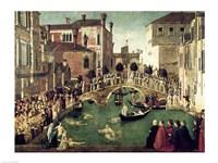 The Miracle of the Cross on San Lorenzo Bridge Fine-Art Print