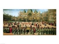 Procession in St. Mark's Square, 1496 Fine-Art Print