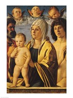 The Virgin and Child with St. Peter and St. Sebastian Fine-Art Print