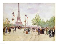 Entrance to the Exposition Universelle, 1889 Fine-Art Print