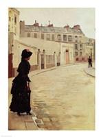 Waiting, Rue de Chateaubriand, Paris Fine-Art Print