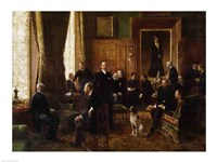 The Salon of the Countess Potocka, 1887 Fine-Art Print