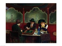 The Backgammon Players Fine-Art Print