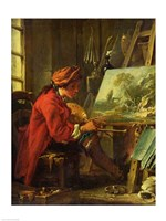 The Painter in his Studio Fine-Art Print