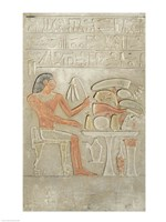 Stela depicting the deceased before an offering table Fine-Art Print