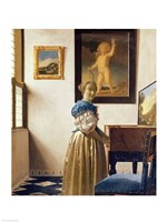 Lady standing at the Virginal Fine-Art Print