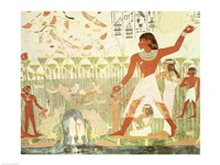 Hunting and Fishing, from the Tomb of Nakht Fine-Art Print