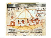 Boatmen on the Nile, from the Tomb of Sennefer Fine-Art Print