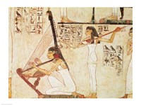 Two Musicians, from the Tomb of Rekhmire Fine-Art Print