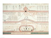 Scene from the Book of Amduat showing the journey to the Underworld Fine-Art Print