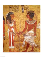 Tutankhamun and his wife, Ankhesenamun Fine-Art Print