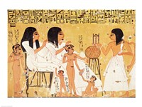 The dead, their family and their servants, from the Tomb of Ankerkhe Fine-Art Print