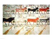 The seven celestial cows and the sacred bull and the four rudders of heaven Fine-Art Print