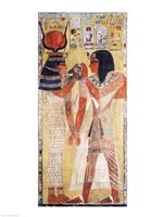 The Goddess Hathor placing the magic collar on Seti Fine-Art Print