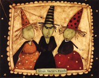 Halloween: Trixie, Dixie and Peach Fine-Art Print