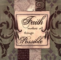 Sage/Cream...Faith Fine-Art Print