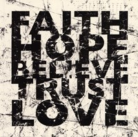 Marble Faith Believe Love Fine-Art Print