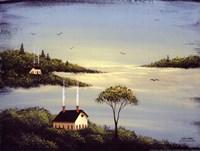 Salt Box by the Lake I Fine-Art Print