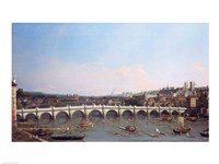 Westminster Bridge from the North with Lambeth Palace in distance Fine-Art Print
