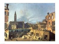 Venice: Campo San Vidal and Santa Maria della Carita Fine-Art Print