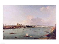 View of the Thames from South of the River Fine-Art Print