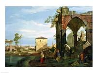 Capriccio with Motifs from Padua Fine-Art Print