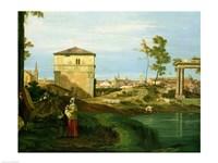 Capriccio with Motifs from Padua, Detail Fine-Art Print