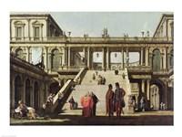 Castle Courtyard, 1762 Fine-Art Print