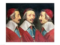 Triple Portrait of the Head of Richelieu, 1642 Fine-Art Print